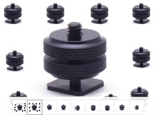 free shipping number 1/4″-20 Tripod screw to Flash Hot Shoe Mount Adapter Tripod for Photo Studio Accessories YONGNUO GODOX