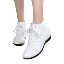 MUYANG MIE MIE Boyutu 33-43 Kadın Ayakkabı Kadın Hakiki Deri Takozlar Botlar Yüksekliği Artan yarım çizmeler Kadın Botları(China)