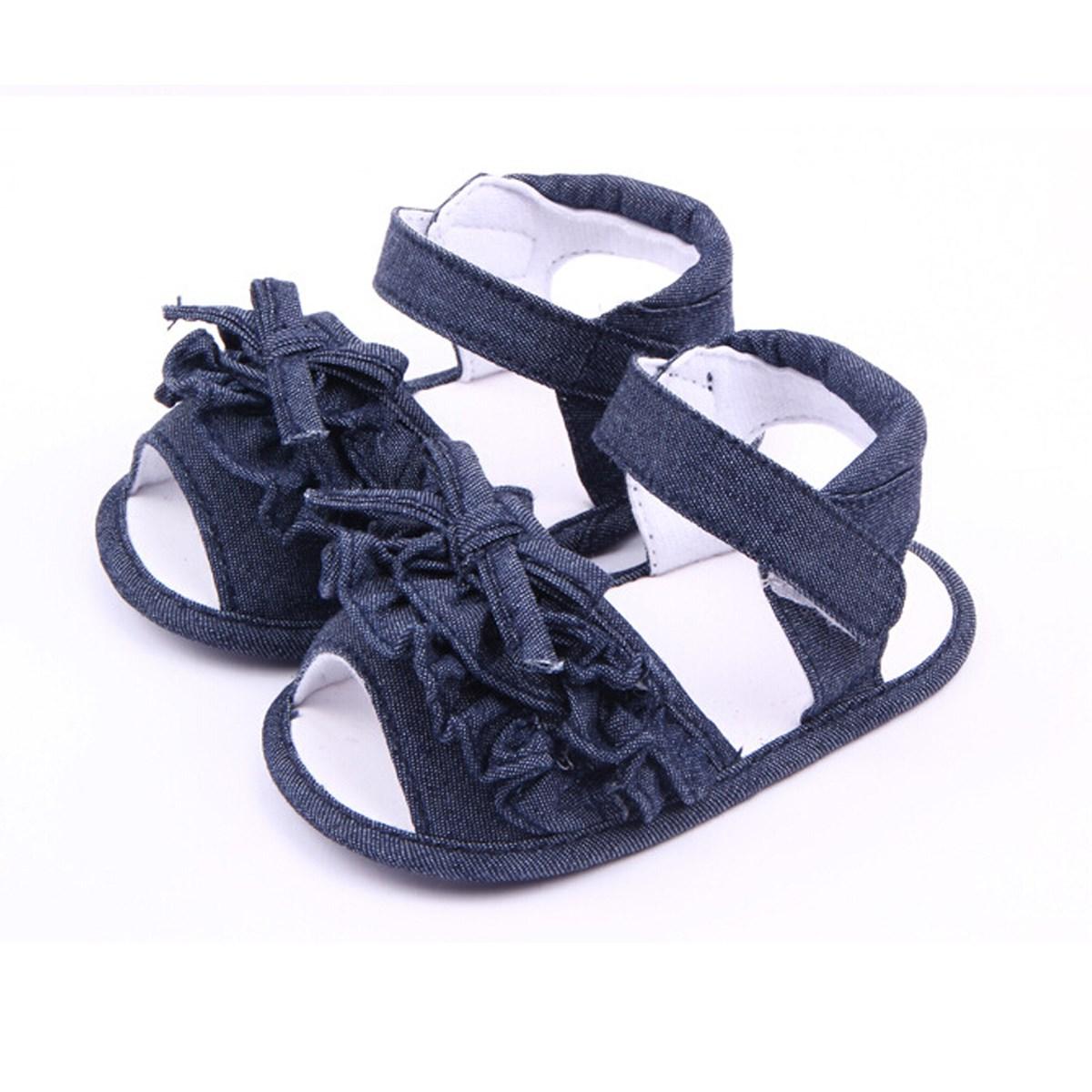 Лето стиль девочки дутый младенцы малыша обувь новорожденных prewalker сплошной
