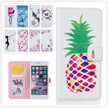 Fashion 3D Relief Painting PU Leather Case For Apple iphone6 6S 4.7″ Butterfly pattern Flip Wallet Photo Frame Stand Phone Cases