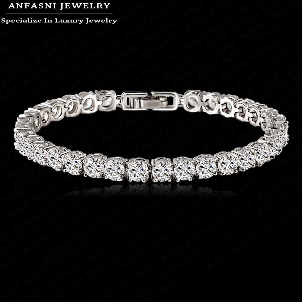 Гаджет  European Design Round Cut Cubic Zircon Bracelet Romantic Real Platinum Plated AAA Swiss Cubic Zirconia Bride Bangle Bracelet None Ювелирные изделия и часы