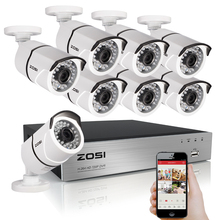 Buy ZOSI 8CH CCTV System 1080P HDMI TVI 8CH DVR 8PCS 2.0 MP IR Outdoor Security Camera 3000TVL Camera Surveillance System for $288.59 in AliExpress store