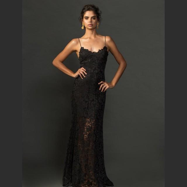 Сексуальная спагетти ремень кружева Boho свадебные платья черный V шеи спинки свадебное платье два в одном свадебные платья Vestido Novia 2 е . м . 1