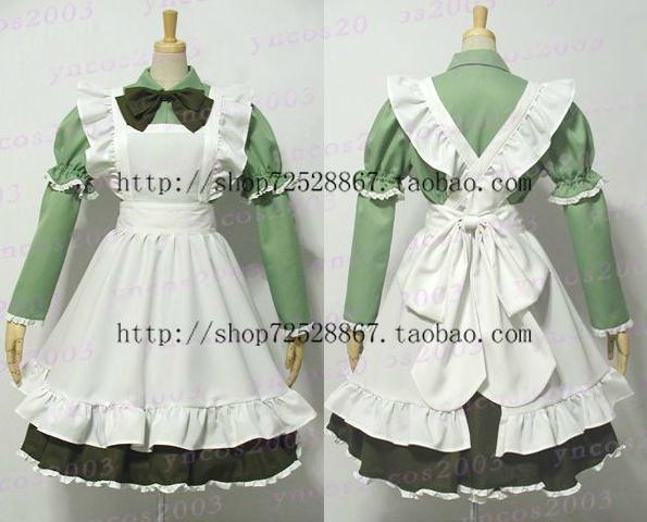 APH Axis Powers Hetalia Italy Maid Cosplay Costume