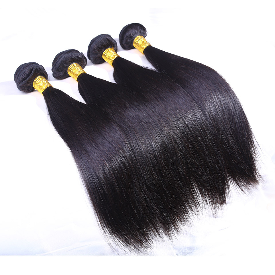 6a Cambodian virgin hair straight 4pcs lot human hair weave virgin straight hair real human hair bundles can be curled and dyed