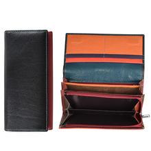 Novas carteiras femininas 100% couro genuíno de alta qualidade longo carteira fivelas designer bolsa saco do telefone cartera mujer(China)