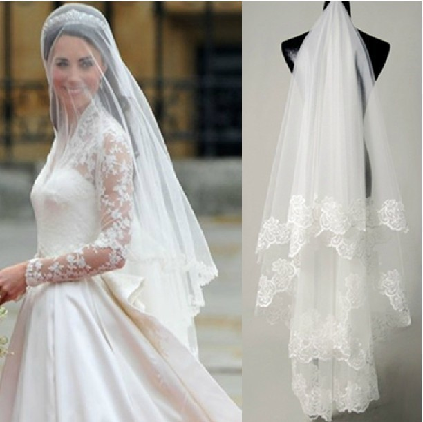 Wedding Accessories Veils Long Lace Veils Wedding Veils And Tiaras ...
