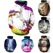 fashion 3D Galaxy Middle childhood hoodies print hemp/cat jacket men/women Harajuku sweatshirt casual Graphics pullover hoody(China (Mainland))