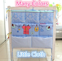 Promotion! Kitty Mickey Baby Bed Accessories 62*52cm Mesh Fabric Hanging Laundry Storage Bag