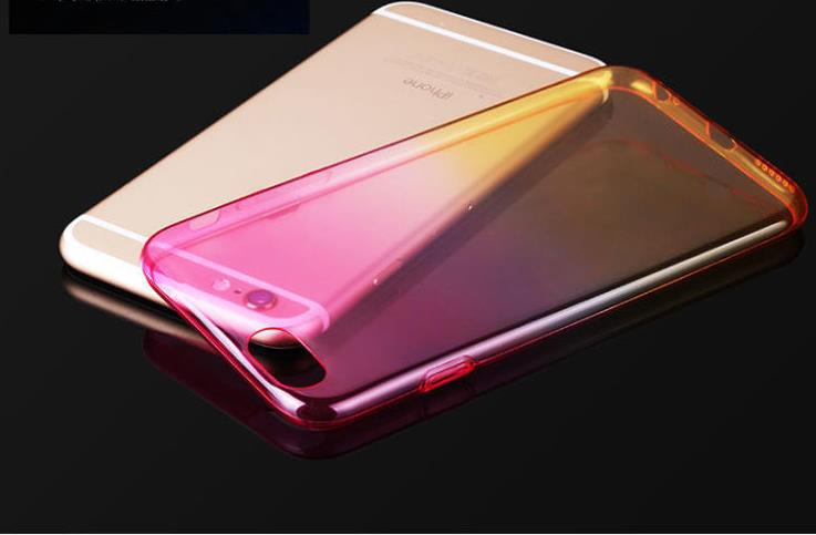 free shipping 5S transparent TPU case for slim back skin colorful protective case cover for iphone 5s 6 plus(China (Mainland))