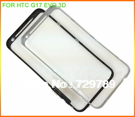 White/Black 100% New Original Housing metal front panel frame Cover Case For HTC EVO 3D / X515 / G17 Repair Part Free Shipping(China (Mainland))