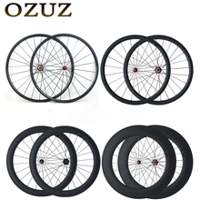 Buy OZUZ Straight Pull Carbon Wheels 24mm 38mm 50mm 60mm 88mm Clincher Tubular Road Bike Bicycle Wheels Powerway R36 Hub Wheelset for $337.00 in AliExpress store