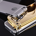 Ultra Slim Mirror Case For iPhone 5 Mobile Phone Luxury Aluminum Acrylic Back Cover For iPhone