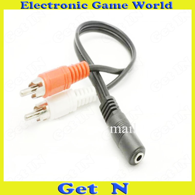 20pcs 30cm Length 3.5mm Audio Cable RCA Adapter 3.5MM Female to 2 RCA Male Connection Adapter<br><br>Aliexpress