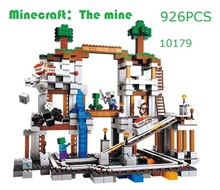 My Worlds Minecraft The Mine Model Building Blocks Toys Hobbies For Children 10179 Model Building Kits Compatible With Lego(China (Mainland))