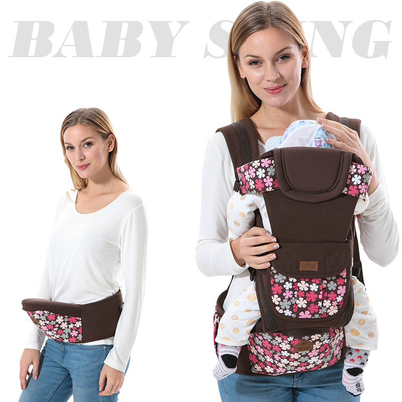 Summer Breathable Ergonomic Baby Carrier sling Multifunction removeable front facing Kangaroo Backpack kids hipseat carrying hot(China (Mainland))
