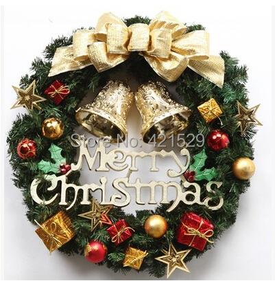 Hot sale christmas decorations garland ornaments door and for Christmas decorations sale online