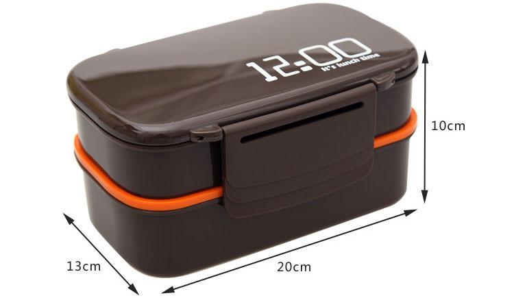 double tier bento lunch box. Black Bedroom Furniture Sets. Home Design Ideas