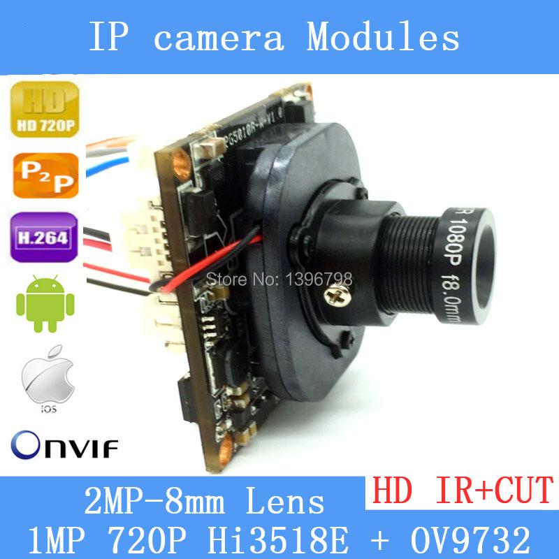 HD 720P 1.0 Megapixel IP Camera upgrade HI3518E + OV9732 1080P Lens IR Cut Filter PoE Cable Security Camera(China (Mainland))