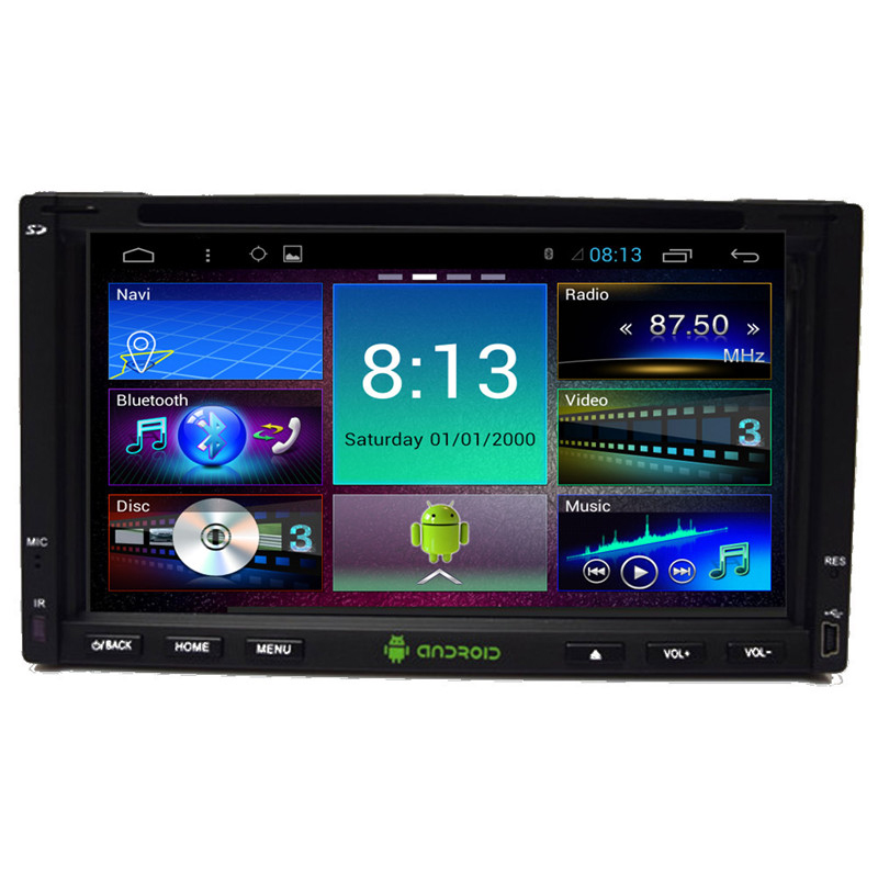 800*480 4 Cores 16G 6.95'' fix panel Android 4.4.4 Universal 2DIN Car GPS DVD+Radio/RDS+USB+SWC+Mirror link+AUX IN(China (Mainland))
