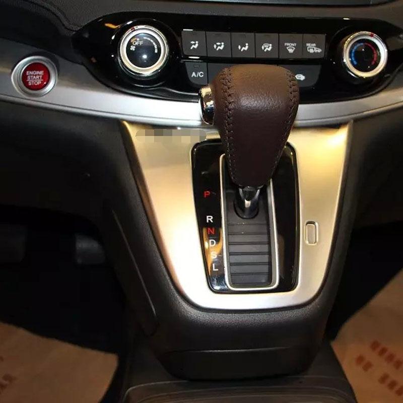 ABS Chrome Gear Panel Cover For Honda For CRV 2015 Car Interior Decoration Accessories(China (Mainland))