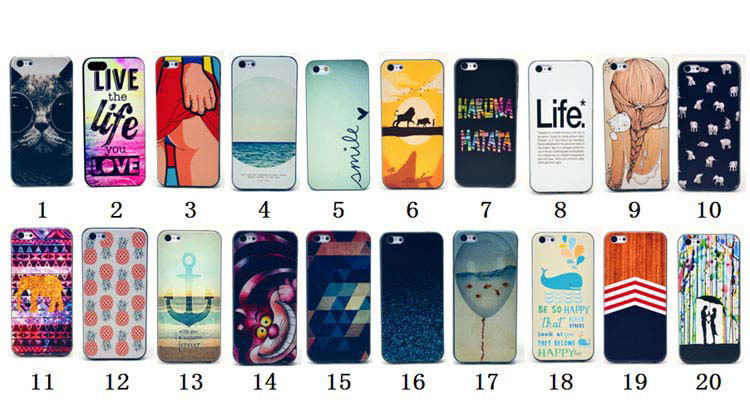 1PCS High Quality Fashion Cartoon Elephant Cat Pineapple PC Hard Plastic Case Cover For iPhone 5C Capa Cell Phone Cases(China (Mainland))