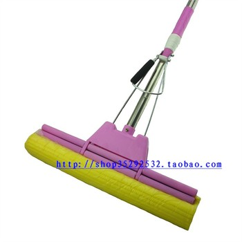 Super absorbent lady colloxylin mop stainless steel sponge mop ultralarge 38cm