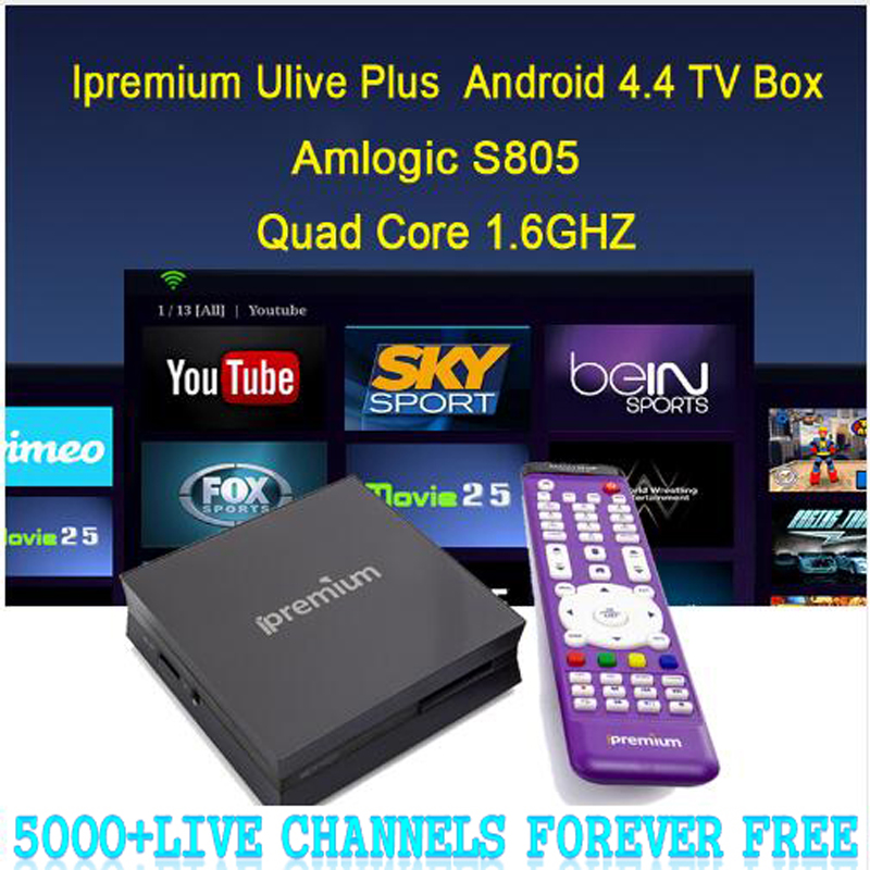 5000+ lifetime Free Channels Ipremium Quad Core with1000+ IPTV one year Include Fr Ru Arabic IPTV Adult Channels Ulive Plus(China (Mainland))