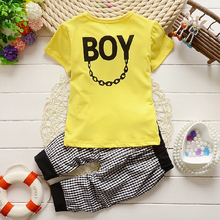 2015 Fashion Baby Boy summer Clothing Set kids Clothes set Gentleman Suit Boys short Sleeve T