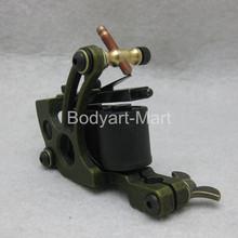 New Top Shader Liner Tattoo Machine 10 Warp Coil Green Tattoo Gun For Beginner GAM14-D#(China (Mainland))