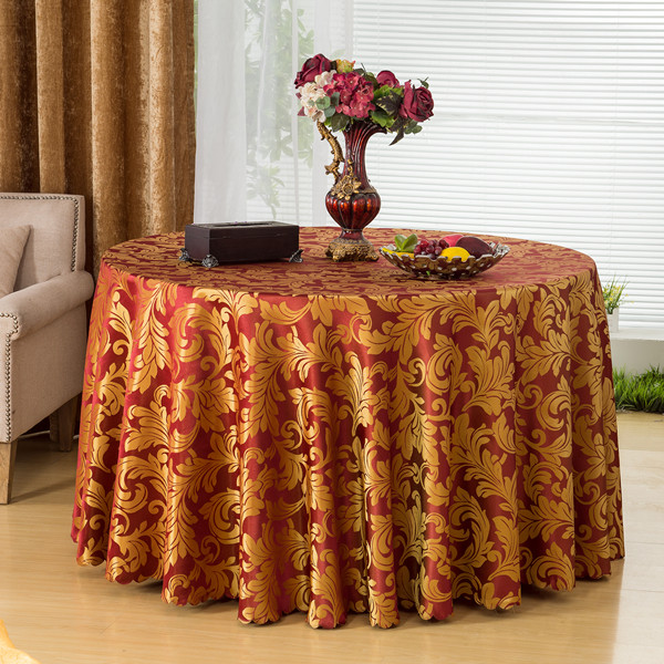 Top Quality Round Dining Table Cover Polyester Solid Table Cloths Hotel Wedding Tablecloth Home Party Table Linen Big Size(China (Mainland))