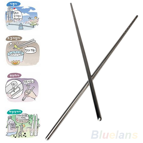 2 Types Chinese Style Thread Stylish Non slip Design Stainless Steel Chop Sticks Chopsticks Environment Hollow