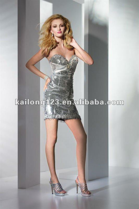 Beautiful sweetheart sheath short silver sequins charmeuse for Beautiful fitted wedding dresses