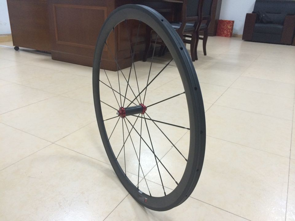 2015 hot sale 700c 25mm wider width carbon aero road racing pro clincher straight pull wheels 50mm powerway R36 hub from china(China (Mainland))