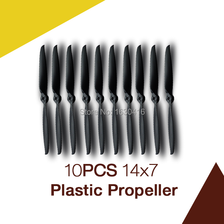 Maytech 10pcs 14inch plastic propeller rc model plane helicopter parts electric EP props 14x7 size with adapter(China (Mainland))