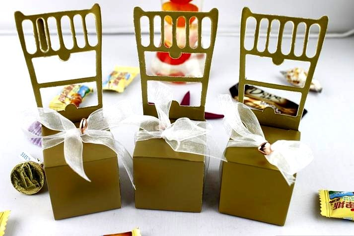 Wedding favor gift boxes chair candy chocolate Favors packaging 100pcs/lot(China (Mainland))