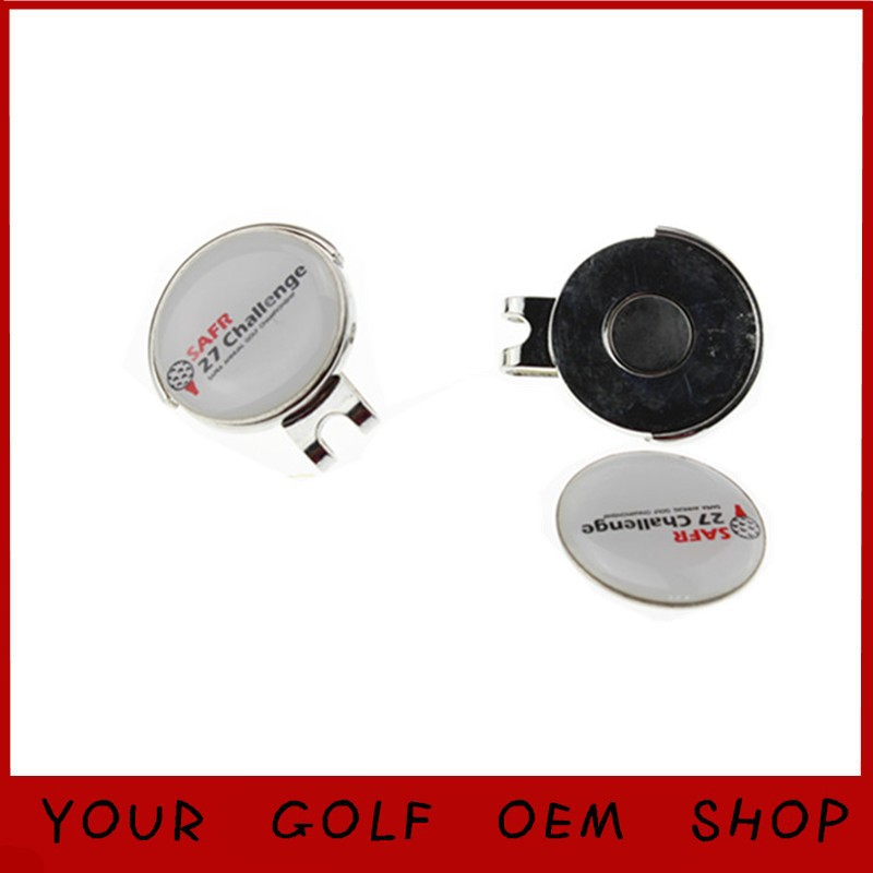Hot Selling Custom Design Logo 100pcs/lot Golf Ball Marker Set Hat Clips Golf Accessories Golf Cap Clips(China (Mainland))