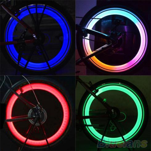 Safety Bright Cycling Car Wheel Tire Tyre LED Spoke Light Lamp Bike bicycle light 1Q8U 4BAI
