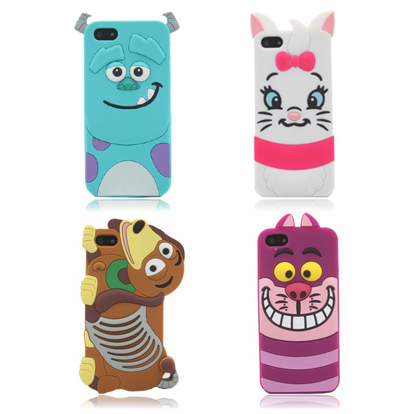 Pop New Cute 3D Cartoon Monster university Sulley Marie Alice Cat slinky dog back Cover Soft Case For iphone 5 5G 5S 5C PC0101(China (Mainland))