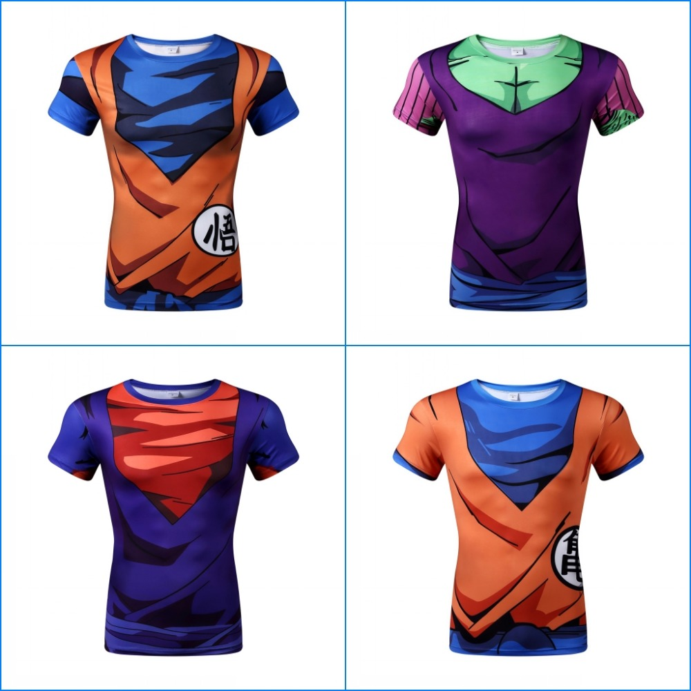 2016 Gym Fashion Men's T Shirt Training to Beat Goku Or Krillin DBZ Dragon Ball Z Printed Basic Top Tee Shirts XS-3XL(China (Mainland))