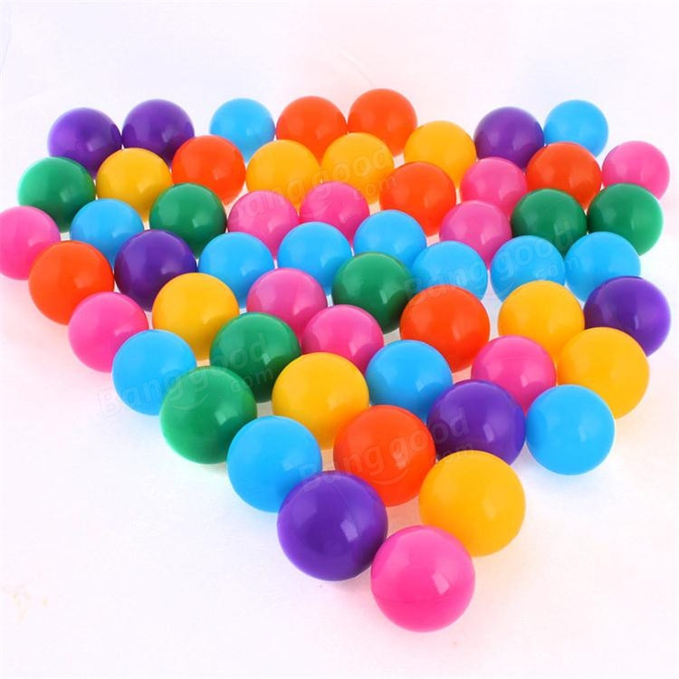 100pcs Baby Childrens toys Ocean Colorful Nice Elasticity Thickening Ball Toys Plastic Gifts Mesh Bag Elastic Ball<br><br>Aliexpress