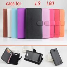 9 colors Classic Leather case LG L90 L 90 Flip Cover housing Card Slot LGL90 Phone Cases - NOAH Technology Limited store