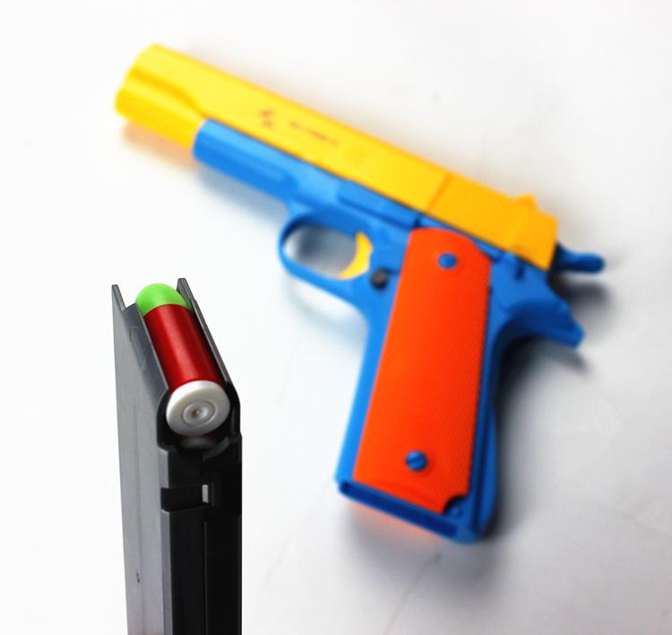 1pcs Classic m1911 Toys Mauser pistol Children's toy guns Soft Bullet Gun plastic Revolver Kids Fun Outdoor game shooter safety(China (Mainland))
