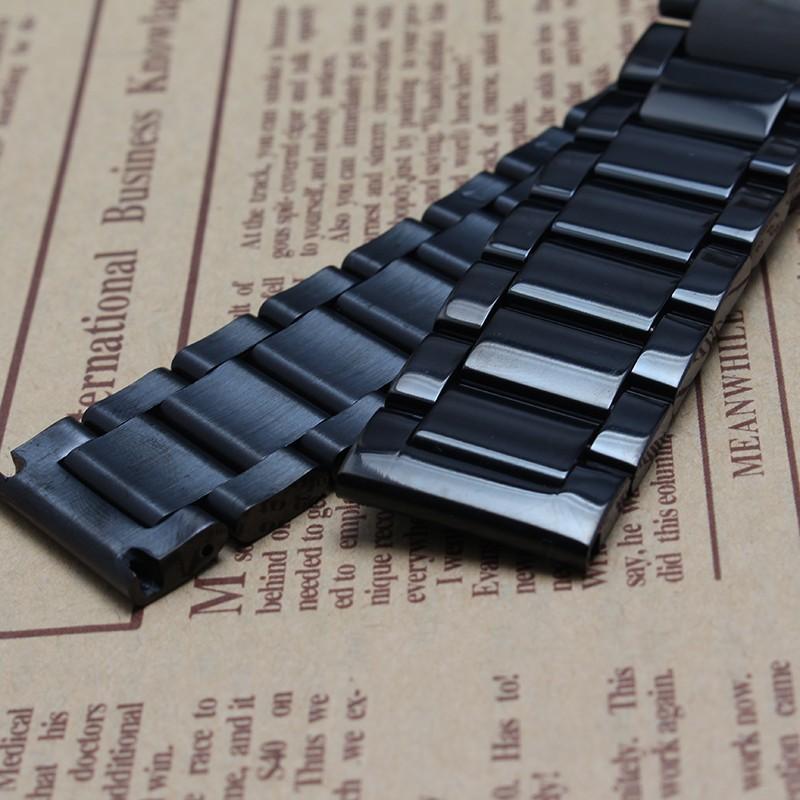 18 мм 20 мм 22 мм 24 мм Новый Мужские высококачественной нержавеющей стали часы браслет бабочка пряжка fit часы замена мода