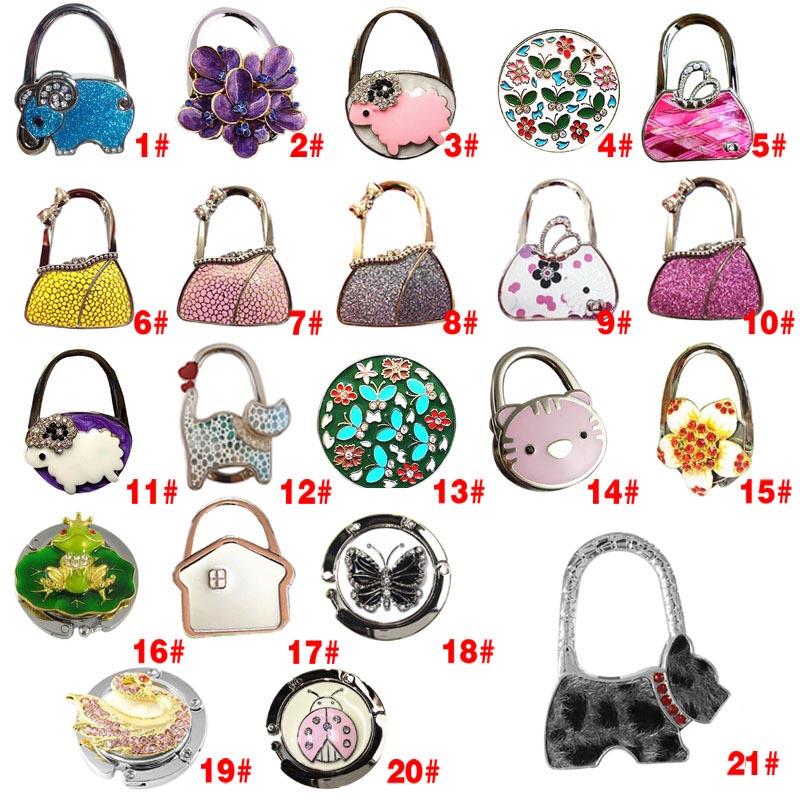 2016 New Folding Bag Purse Hook Handbag Hanger Holder 12 Colors(China (Mainland))