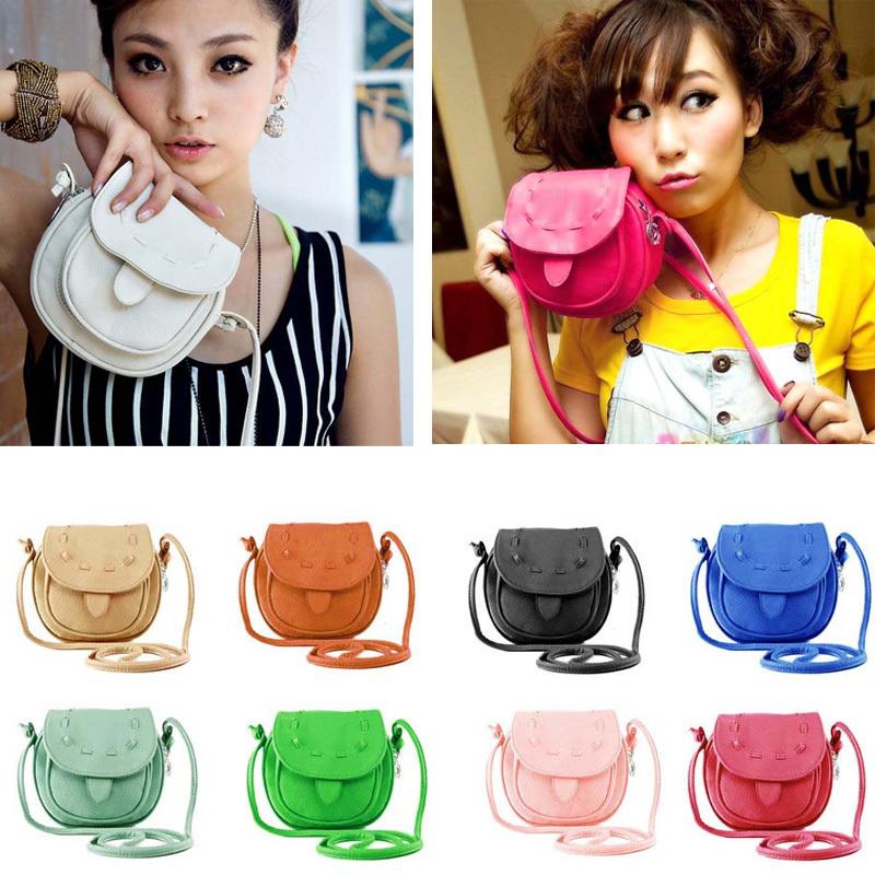 2015 Bolsos carteras mujer marca Women Lovely Cute Girl Pu Leather Mini Small Adjustable Shoulder Bag Handbag Feida(China (Mainland))