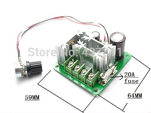 Dc Motor Speed Control Pwm Controller 6v 12v 24v 36v 40v 60v 90v 15a 1000w In Motor Controller