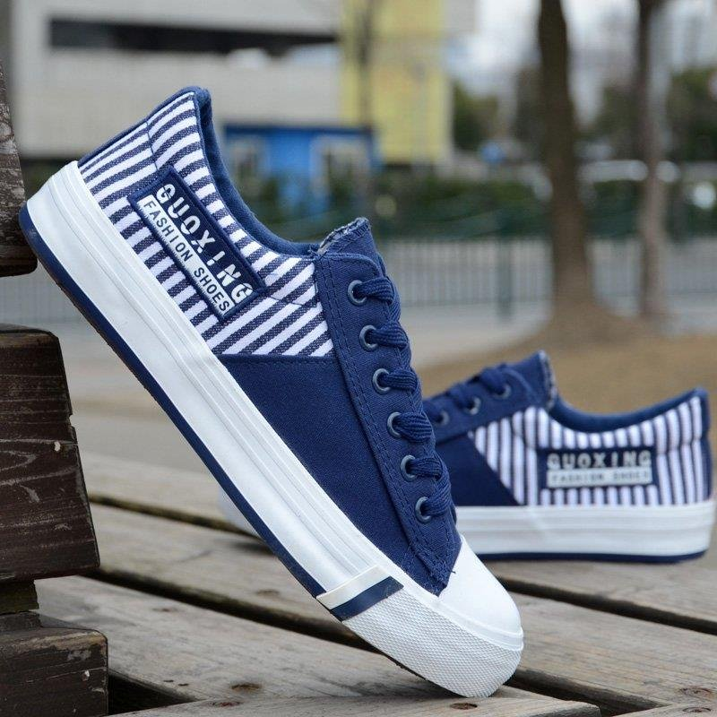 Cheap men s spring and autumn Korean version of men s casual canvas shoes student shoes