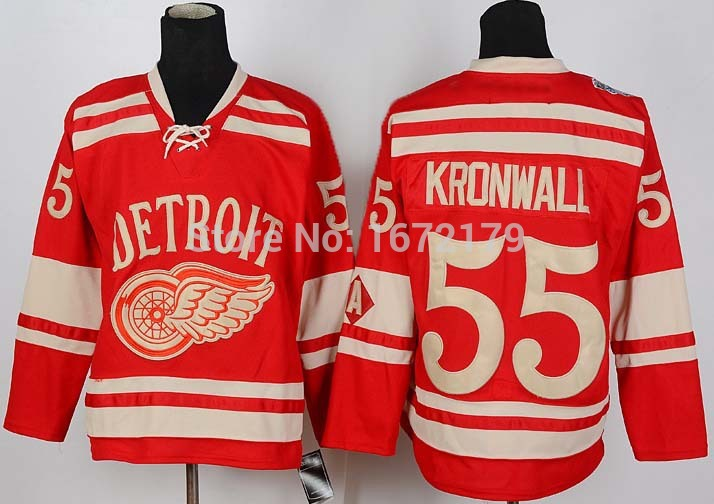 CHEAP HIGH QUALITY MENS DETROIT RED WINGS #55 NIKLAS KRONWALL RED 2015 WINTER CLASSIC PREMIER 100% STITCHED ICE HOCKEY JERSEY fr(China (Mainland))