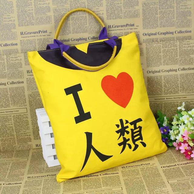 New fashion canvas soft totes 2015 hot sale anime No Game No Life girls handbag pretty women shoulder bags casual styles(China (Mainland))